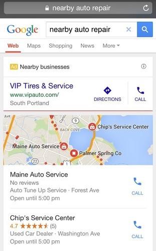 """Google добавил """"Близлежащие бизнесы"""" в локальную выдачу"""