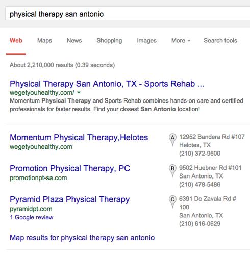 Google тестирует результаты поиска без ссылок на Google+ в блоке локальной выдачи