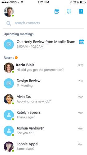 Microsoft выпустил Skype for Business для iOS
