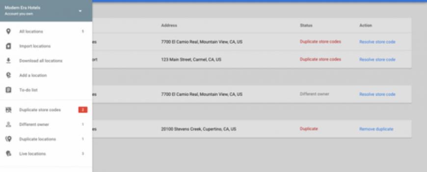 Google обновил «Google Мой бизнес-места».
