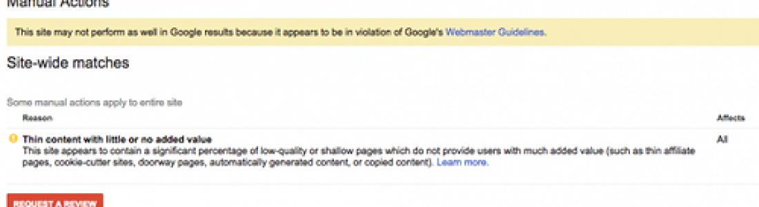 Google наложил массовые ручные санкции
