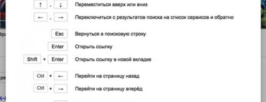 Страница результатов поиска Яндекса начала понимать команды с клавиатуры