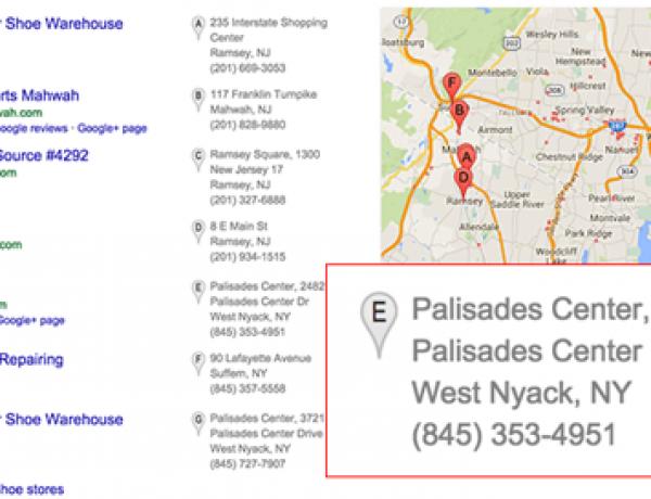 Google сократил блок результатов локального поиска